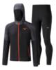 Mizuno Printed Hoodie Impulse Core костюм для бега мужской черный-серый - 2