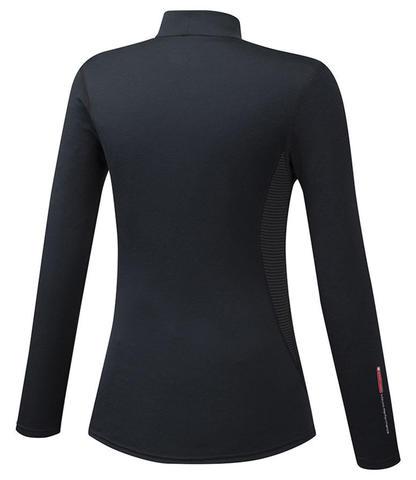 Mizuno Mid Weight High Neck термобелье рубашка женская черная