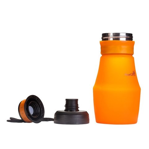 AceCamp Squeezable Silicone Bottle 600 складная бутылка оранжевая