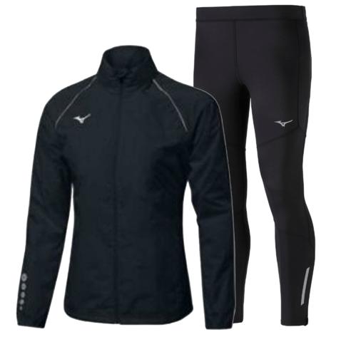 Mizuno Osaka Windbreaker Warmalite костюм для бега мужской черный