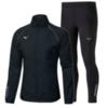Mizuno Osaka Windbreaker Warmalite костюм для бега мужской черный - 1
