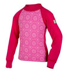Janus Princess Wool термобелье детское из шерсти мериносов свитер малиновый