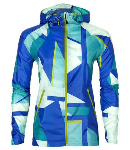 Ветровка женская Asics Fuzex Packable белая-синяя