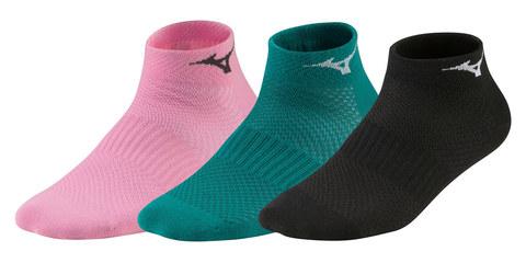 Mizuno Training Mid 3P комплект носков розовые-бирюзовые-черные