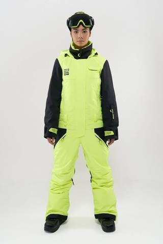 COOL ZONE Flex сноубордический комбинезон женский салат-черный