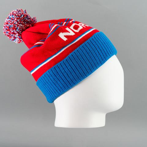 Nordski Stripe RUS теплая шапка blue