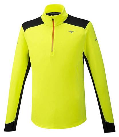 Mizuno Warmalite Hz рубашка для бега мужская желтая