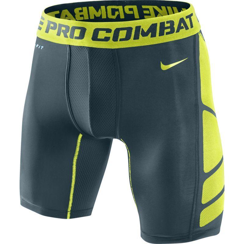 """Компрессионное белье - шорты Nike Hypercool Comp 6"""" Short 2.0 чёрно-салатовые"""