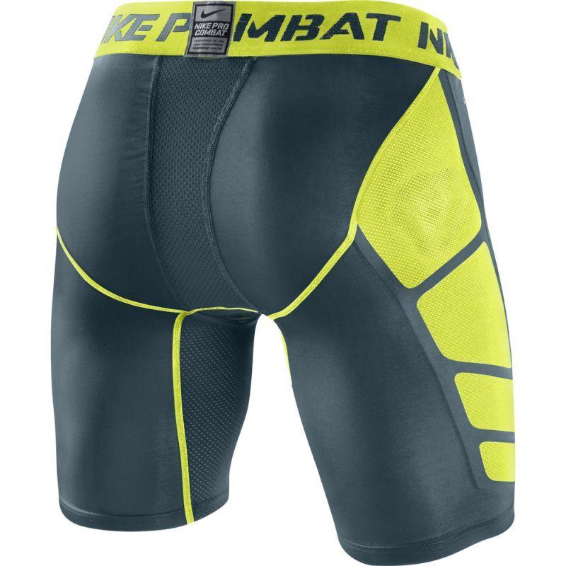 """Компрессионное белье - шорты Nike Hypercool Comp 6"""" Short 2.0 чёрно-салатовые - 2"""