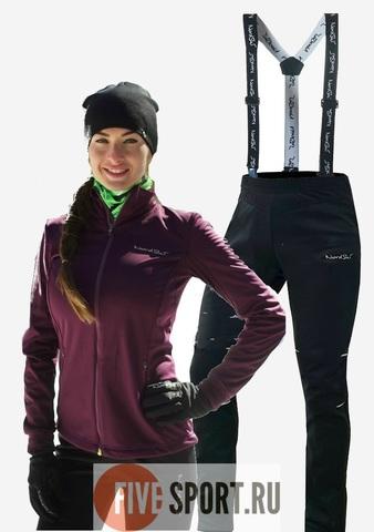 Nordski Motion Premium разминочный лыжный костюм женский Purple