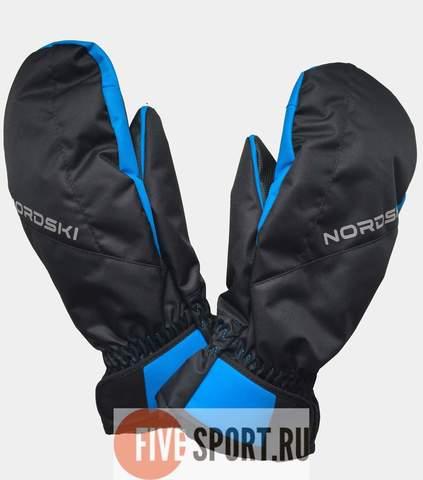 Nordski Arctic Membrane варежки мембранные черные-синие