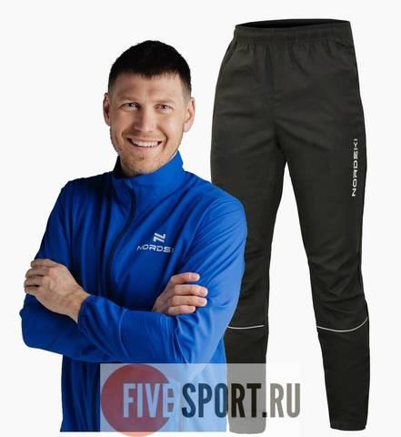 Nordski Motion Run костюм для бега мужской Blue-Black