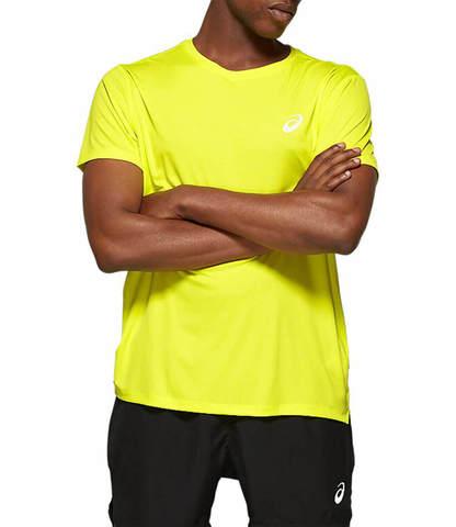 Asics Silver Ss Top беговая футболка мужская желтая