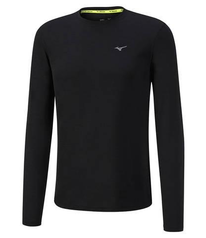 Mizuno Impulse Core Ls Tee футболка с длинным рукавом мужская черная