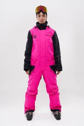 COOL ZONE Flex сноубордический комбинезон женский цикламен-черный
