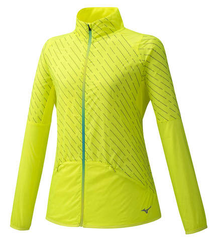 Mizuno Reflect Wind Jacket куртка для бега женская желтая