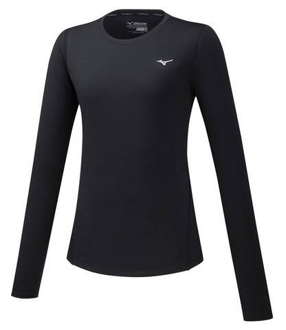 Mizuno Impulse Core Ls Tee футболка с длинным рукавом женская черная