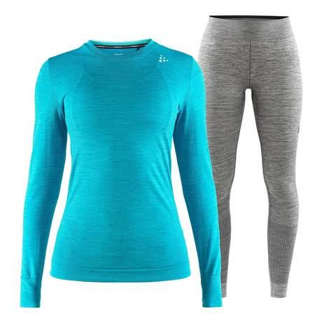 Craft Fuseknit Comfort комплект термобелья женский blue-grey