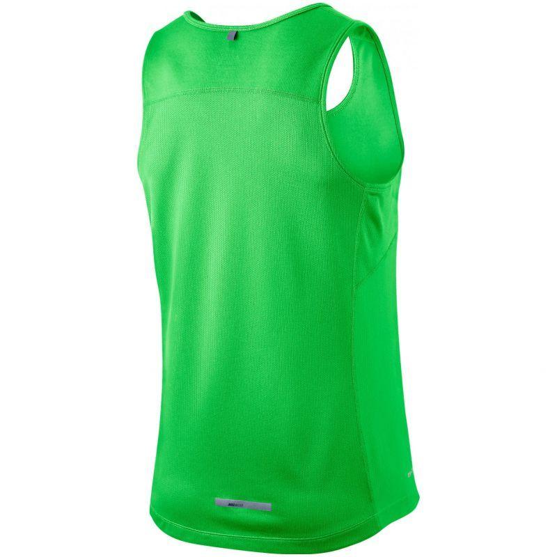 Майка л/а Nike Miler Singlet зелёная - 2