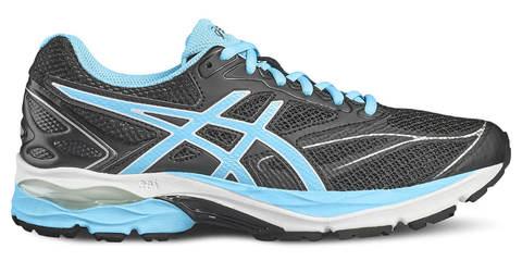 Кроссовки для бега женские Asics Gel Pulse 8 черные-голубые