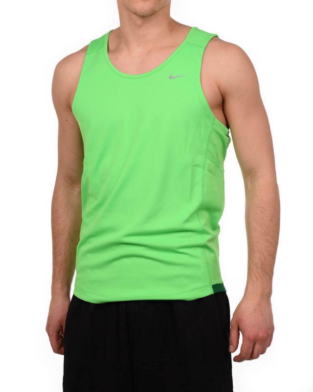 Майка л/а Nike Miler Singlet зелёная - 4