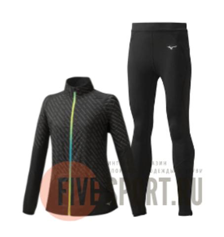 Mizuno Reflect Wind Warmalite костюм для бега женский черный