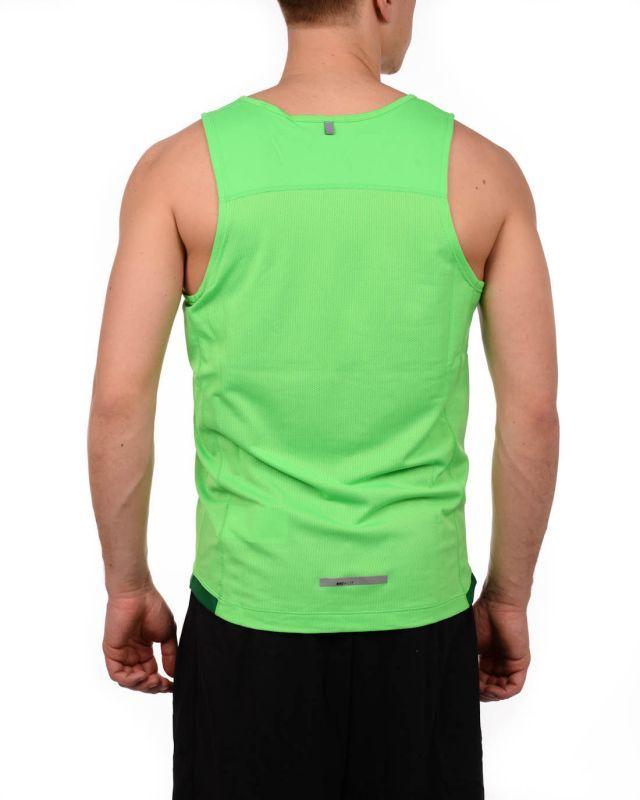 Майка л/а Nike Miler Singlet зелёная - 5
