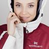 Теплая лыжная куртка женская Nordski Premium Sport cream-wine - 4