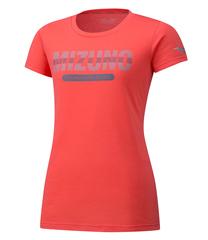 Mizuno Heritage 06 Tee футболка для бега женская коралловая