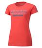 Mizuno Heritage 06 Tee футболка для бега женская коралловая - 1