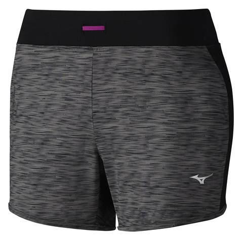 Mizuno Lyra 5.5 шорты для бега женские серые-черные