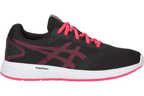 Asics Patriot 10 GS кроссовки для бега детские черные-розовые