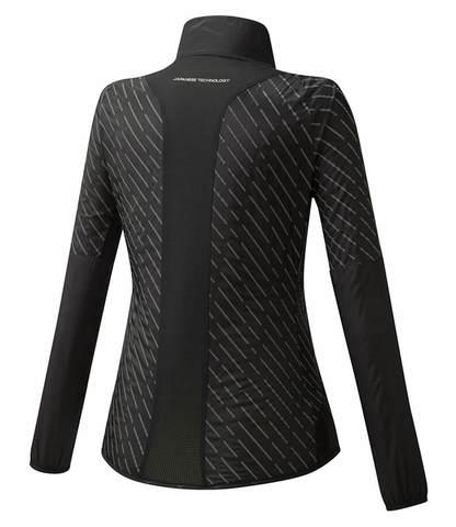 Mizuno Reflect Wind Jacket куртка для бега женская черная