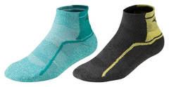Mizuno Active Training Mid 2p комплект носков бирюзовые-черные