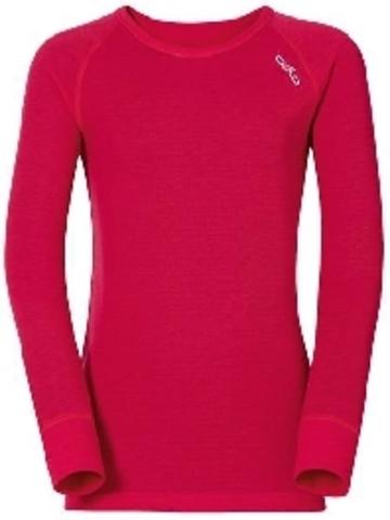 Odlo X-Warm детская термофутболка с длинным рукавом розовая