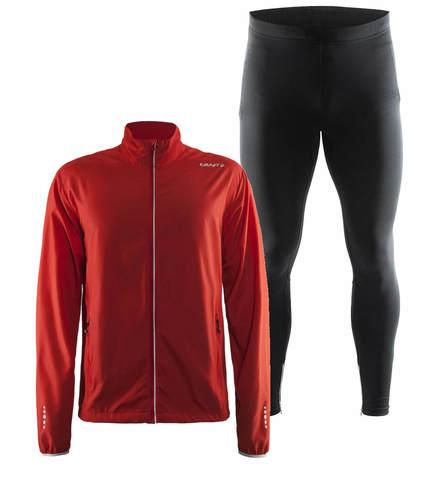 Craft Mind Active костюм для бега мужской red