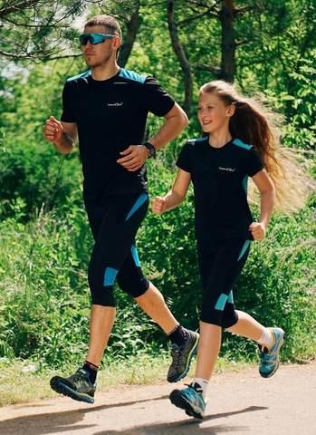 Nordski Premium детские лосины для бега blue