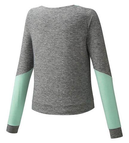 Mizuno Style Ls Shirt футболка с длинным рукавом женская серая