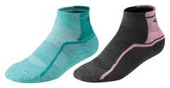 Mizuno Active Training Mid 2p комплект носков бирюзовые-черные-розовые