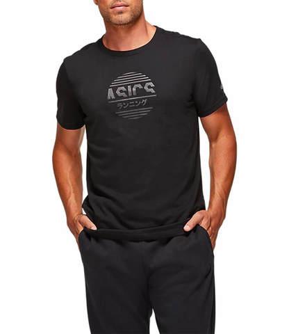 Asics Tokyo Graphic Tee футболка для бега мужская черная