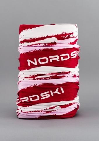 Nordski Stripe многофункциональный баф бордо