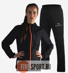 Nordski Run Motion костюм для бега женский Black-Orange