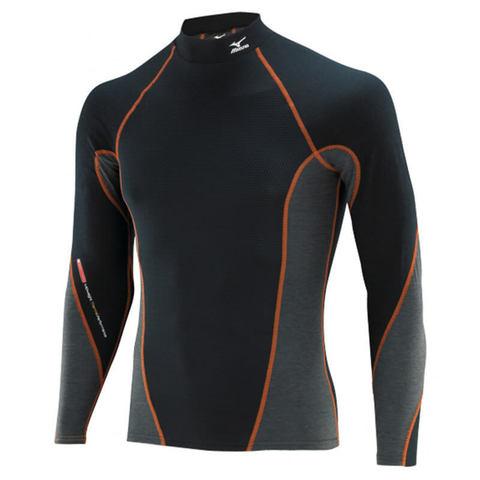 Mizuno Virtual Body High Neck термобелье рубашка мужская черная-серая