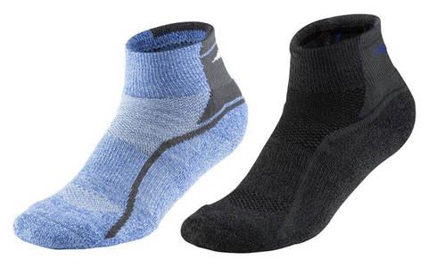 Mizuno Active Training Mid 2p комплект носков голубой-черный