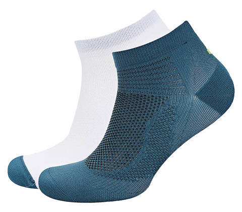 Asics 2ppk Ultra Lightweight Quarter комплект носков белые-синие